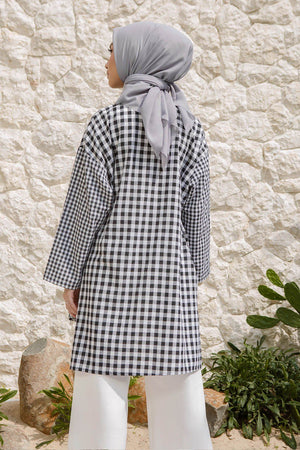 Load image into Gallery viewer, Noya Black Gingham