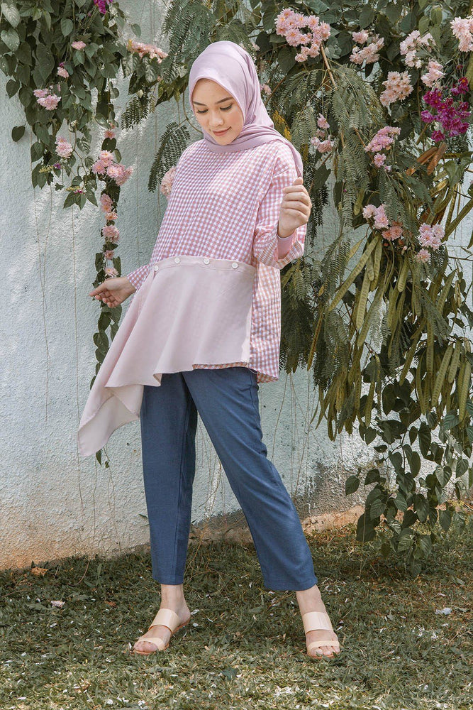 Load image into Gallery viewer, Yasna Pink Gingham
