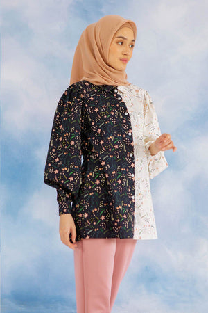 Ella Floral Navy Top