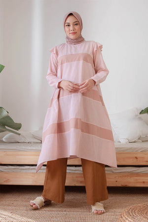 Load image into Gallery viewer, Sofiya Stripe Pink tunic