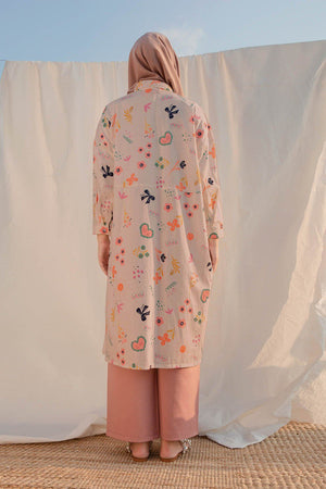 Load image into Gallery viewer, Viola Pink Pattern Tunic