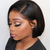 Short Straight 360 Lace Front Human Hair Wig