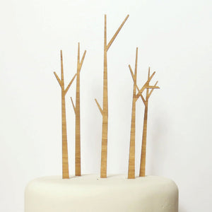 Modern Trees Cake Topper Set