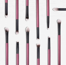 Load image into Gallery viewer, BORGOÑA ULTIMATE EYE BRUSH SET WITH WRISTLET POUCH