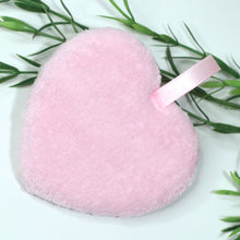 Load image into Gallery viewer, REUSABLE MICROFIBER MAKEUP REMOVER HEART PAD