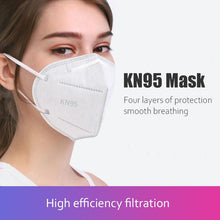Load image into Gallery viewer, 10PCS Five-Layers Structure Multiple Protection White  KN95 Face Masks