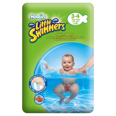 Huggies Little Swimmers Swim Pants 3-4 (7kg-15kg) 12 pack (Green)