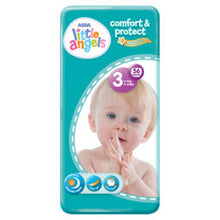 Load image into Gallery viewer, ASDA Little Angels Comfort & Protect Size 3(6-10kg) Nappies