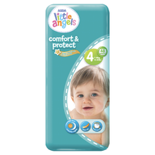 Load image into Gallery viewer, Asda Little Angels Comfort & Protect Size 4(7-18kg) Nappies