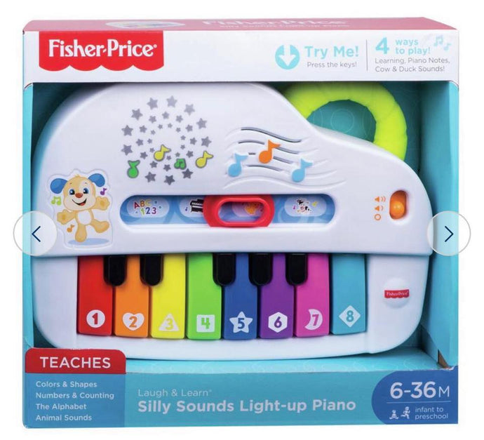 Fisher Price Smart Phone Silly Sounds Light-Up Piano 6-36M