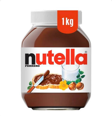 Nutella Chocolate Spread UK original 1kg Glass Bottle
