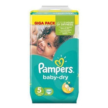 Load image into Gallery viewer, Pampers Baby Dry Nappies Size 5