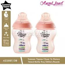 Tommee Tippee 260ml 0+m color feeding bottles
