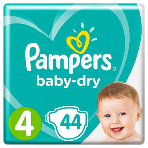 Pampers Baby-Dry Size 4 9-12kg Nappies Essential Pack
