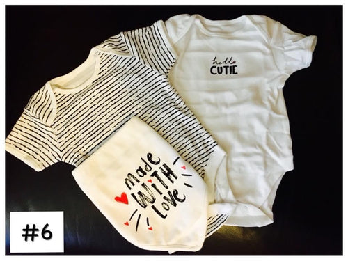 Asda GEORGE Bodysuits with Bib set #6