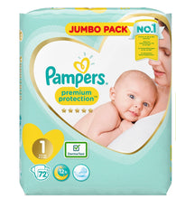 Load image into Gallery viewer, Pampers Premium Protection Size 1 (2-5kg) Nappies Essential Pack