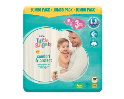ASDA Little Angels Comfort & Protect Size 3(6-10kg) Nappies