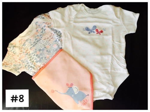 Asda GEORGE UK Bodysuits&Bib set #8