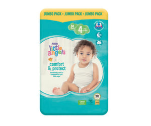Asda Little Angels Comfort & Protect Size 4(7-18kg) Nappies