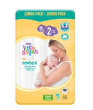 Load image into Gallery viewer, Asda Little Angels Newborn Size 2 (3-6kg) Nappies