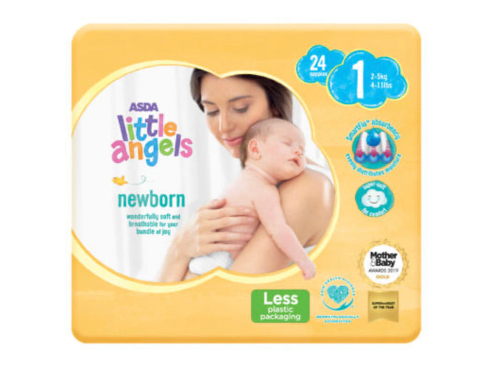 Asda Little Angels Newborn Size 1 (2-5kg) Nappies