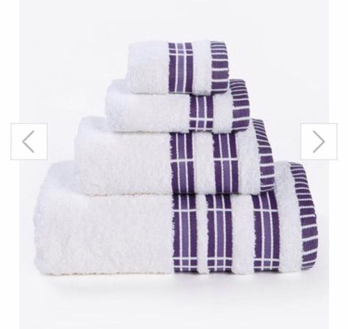 4-Piece Towel Bale - PURPLE Stripe