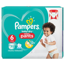 Load image into Gallery viewer, Pampers Baby-Dry Size 6 Pants (15kg+)