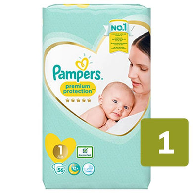 Pampers Premium Protection Size 1 (2-5kg) Nappies Essential Pack