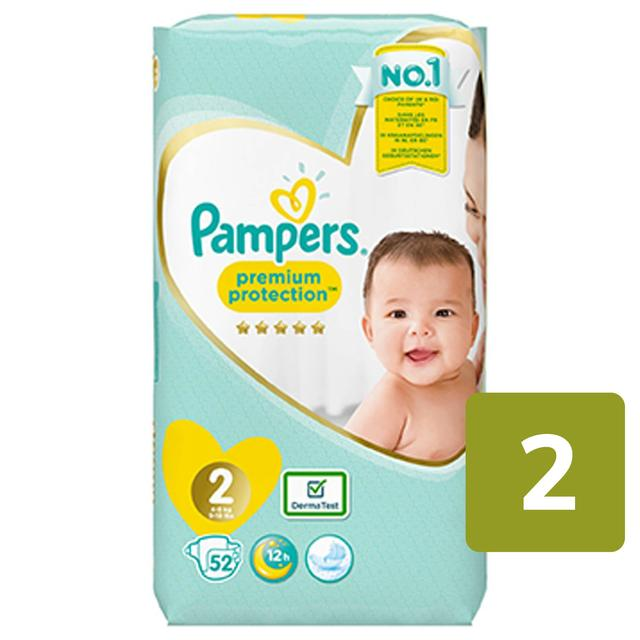 Pampers Premium Protection Size 2 4-8kg Nappies Essential Pack