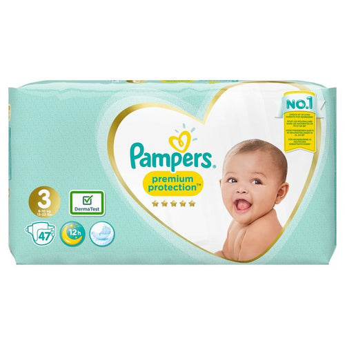 Pampers Premium Protection Size 3 6-10kg Nappies Essential Pack