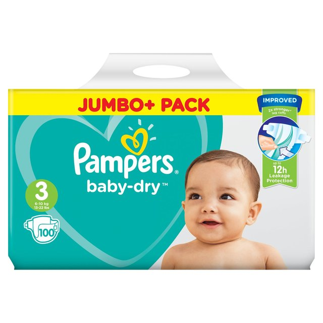 Pampers Baby-Dry Size 3 6-10kg Nappies Essential Pack