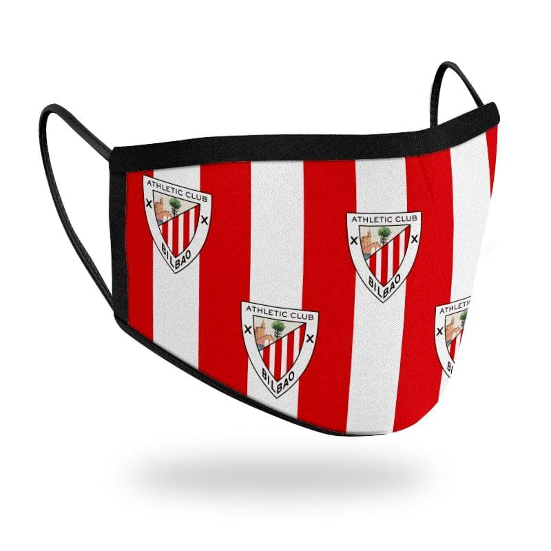 Mascarilla R30 Athletic Club - Escudos Rojiblanca