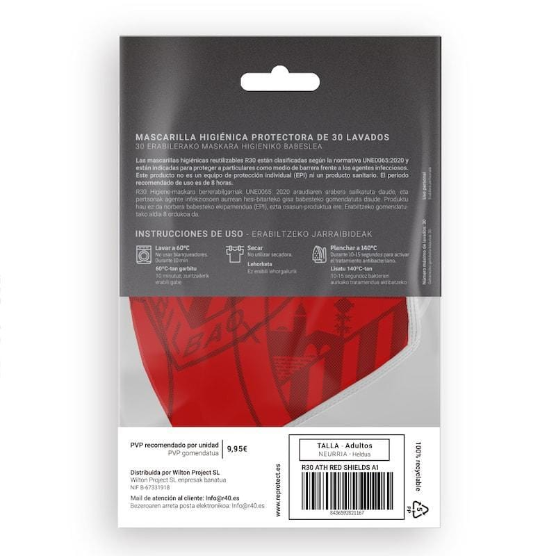 Mascarilla R30 Athletic Club - Red Shields