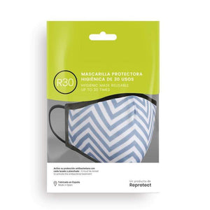 Mascarilla R30 - Blue stripes