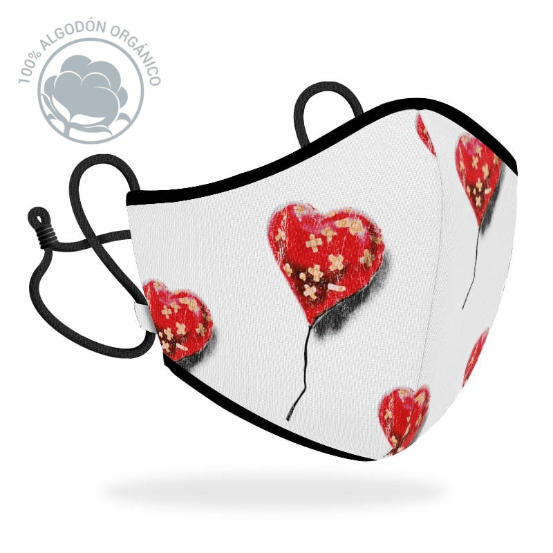 Mascarilla R40 Brandalised - Heart balloon
