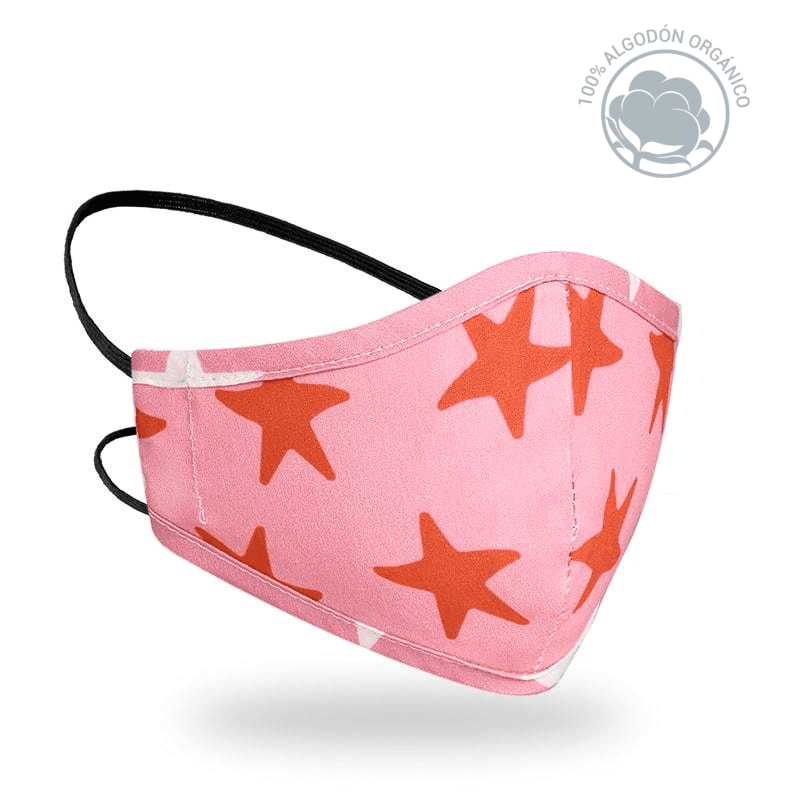 Mascarilla R40 Print Edition - Red stars