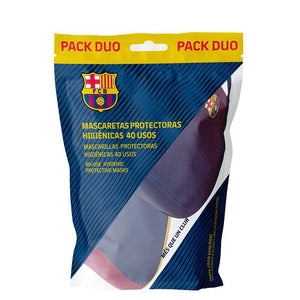 Mascarilla R40 FC Barcelona - Original + Game (Pack Dúo)