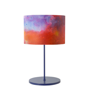 Lampshade AQUARELA night blue microtexture + custom shade