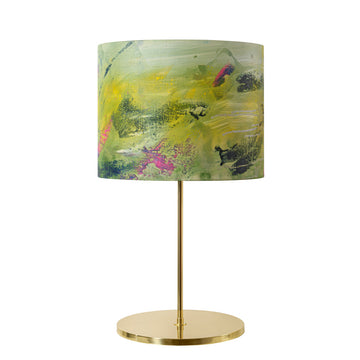 Lampshade AQUARELA polished brass + custom shade