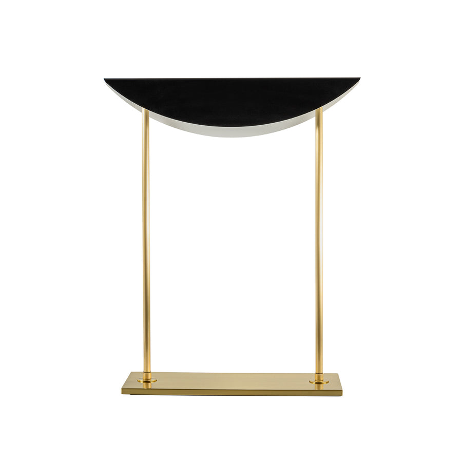 Lampshade ASA shine brushed brass + black microtexture shade
