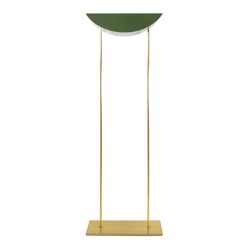Column ASA olive green microtexture shade + shine brushed brass stem and base