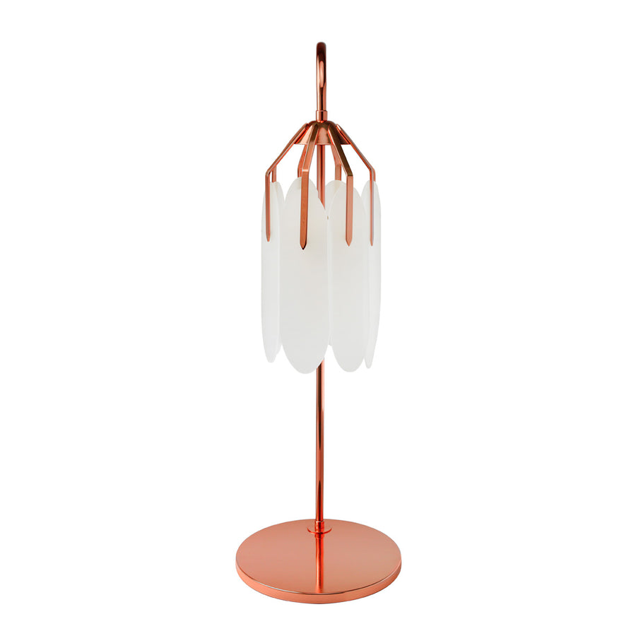 Lampshade BOTANIQUE polished copper + acrylic petals