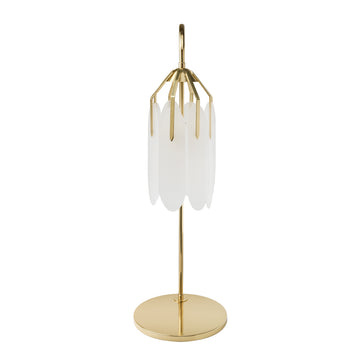 Lampshade BOTANIQUE polished brass + acrylic petals