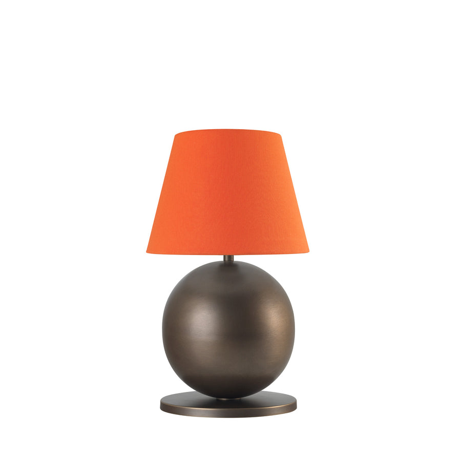 Lampshade CARAJÁS oxidized brown brass + orange conical shade