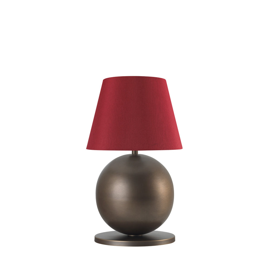 Lampshade CARAJÁS oxidized brown brass + red conical shade