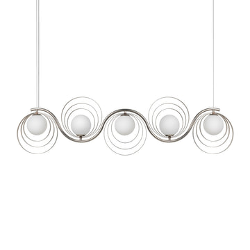 Pendant CÍRCULO 05 matte brushed nickel globes