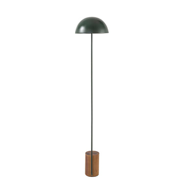 Column COGUMELO night green microtexture shade and stem + imbuia wood base