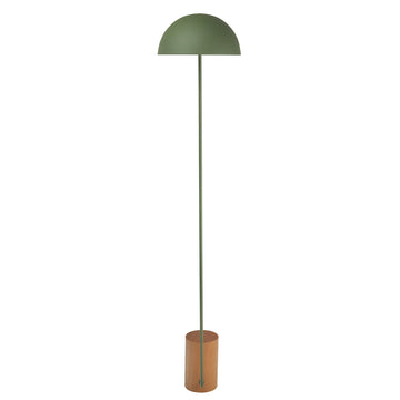Column COGUMELO olive green microtexture shade and stem + imbuia wood base