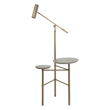 Column ELO oxidized matte brass shade and stem (grey)+ cedar double cover