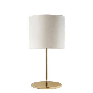 Lampshade FRANCISCO polished brass + vegetal parchment shade